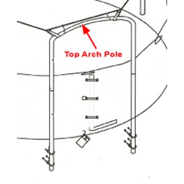 Top Arch Pole for 14 ft 4 Arch Enclosures