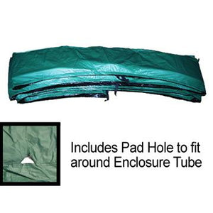 "14ft x 10inch Green Safety Pad For 4 Poles with Hole For 5.5"" and 7"" Inch Sized Springs - Trampoline"