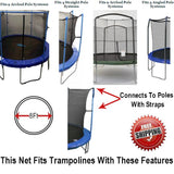 Net And Pad Combo For 8 Ft. Round Frames With 4 Poles Or 2 Arches