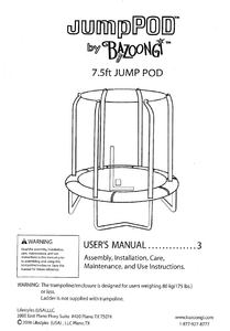 BZJP7506 User Manual - Trampoline