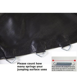 Jumping Surface Fits 12 Ft. Round Frames-72 V-Rings-5.5 Springs