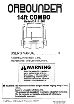 OR1413B6A User Manual
