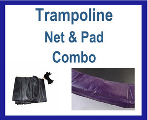 Net And Pad Combo For 14Ft Frames with 6 Pole Top Ring Enclosure-YJNYJP-TR-14-6-PR