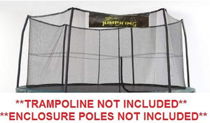 "15' ft. Jumpking Trampoline Safety Net With 6 ""Short"" Poles For 5.5"" Springs"