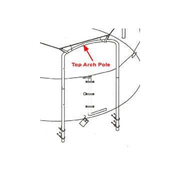Top Arch Pole for 15 ft 4 Arch Enclosures