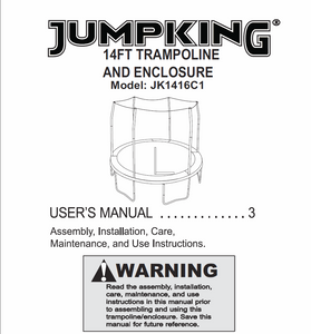 JK1416C1 User MAnual - Trampoline