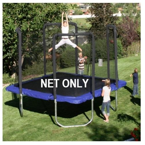 Safety Net Fits 13' X 13' Square Frames Using 4 Arches With Straps On Top