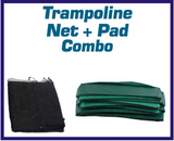 Net And Pad Combo For 12Ft Frames With 3 Arch Enclosure with Sleeve - Trampoline