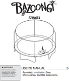 BZ1409E4 User Manual - Trampoline