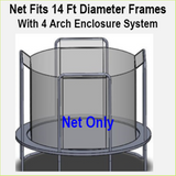 Net Fits 14 Ft. Round Frames With 4 Arch Enclosure Systems-UBNET-14-4AP