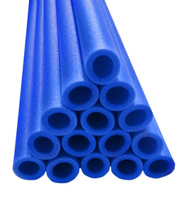 33 In Pole Foam Sleeves-1.5 Dia Pole-Set Of 16-Blue