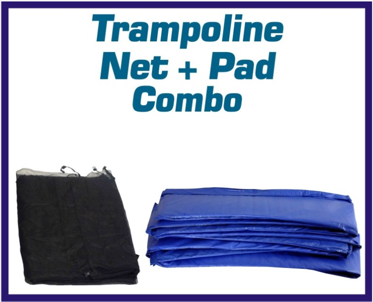 Net And Pad Kit For 14 Ft Round Frames With 4 Pole Top Ring Enclosure-UBNUBP-TR-14-4 - Just Trampolines