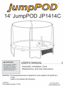 JP1414 User Manual - Trampoline
