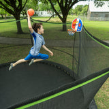 Jump King 14 ft. Trampoline with Basketball Hoop
