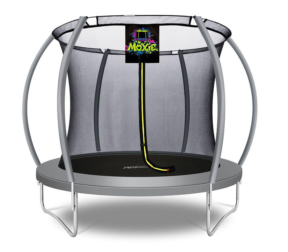 Moxie™ 8 FT Pumpkin-Shaped Outdoor Trampoline - Free Shipping