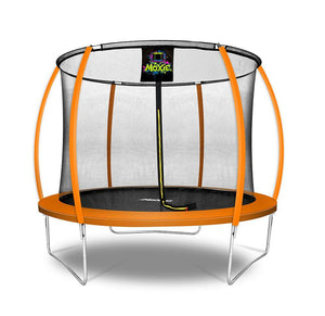 Moxie™ 10 FT Pumpkin-Shaped Outdoor Trampoline - Free Shipping