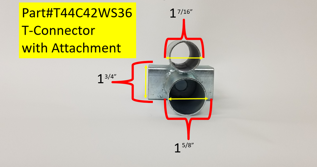 T-CONNECTOR WITH ATTACHMENT 44/42/36mm