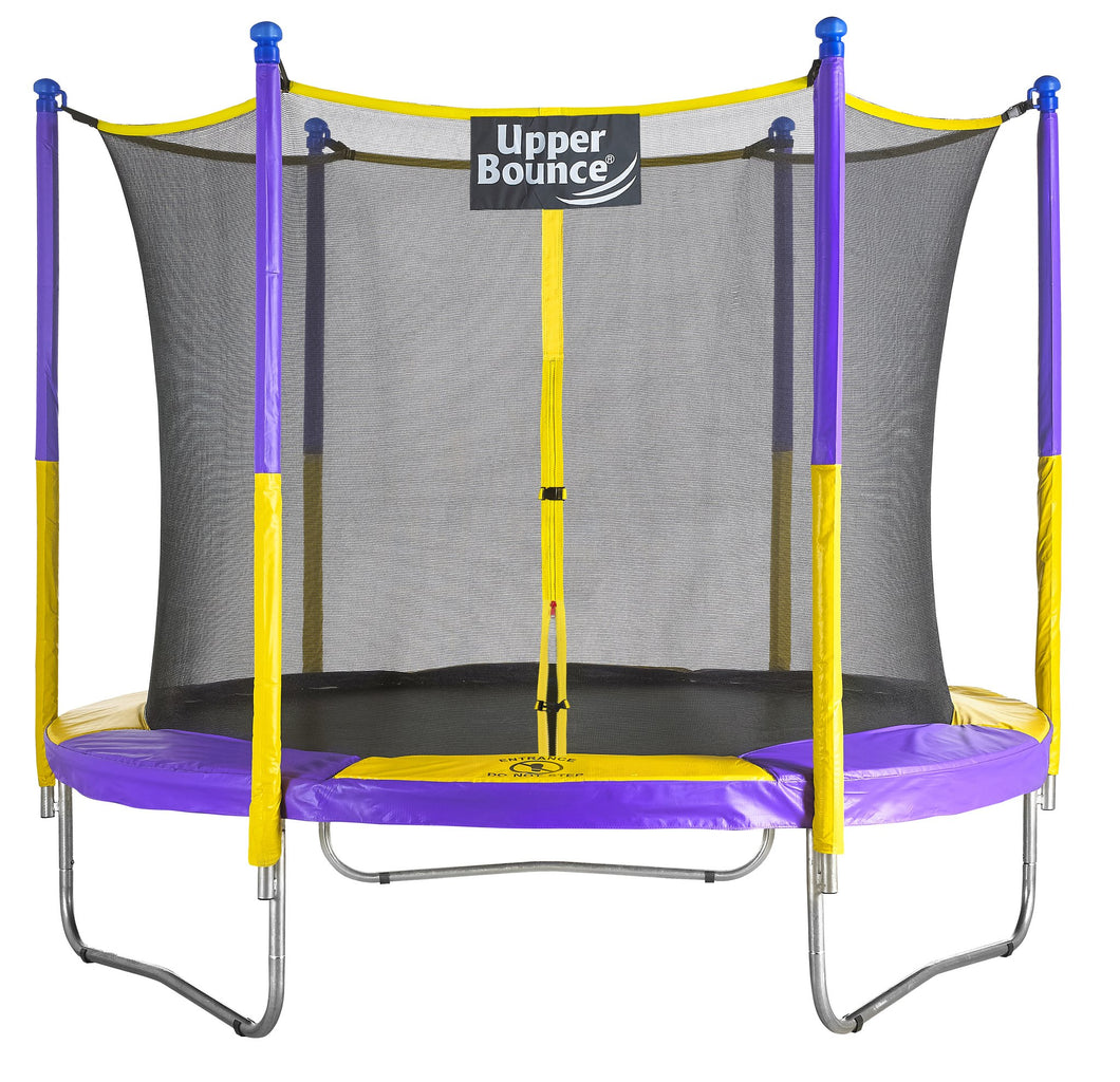 Upper Bounce® 9 FT Round Trampoline Set with Safety Enclosure System