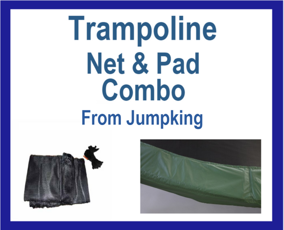 Net And Pad Combo For 13 Ft Round Frames With 8 Poles Or 4 Arches-YJNYJP-IS-13-8 - Trampoline