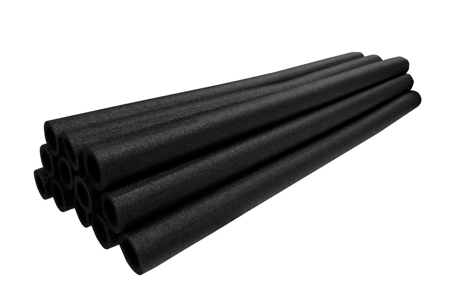 44 In Pole Foam Sleeves-1.5 Dia Pole-Set Of 12-Black - Trampoline