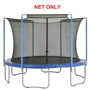 Safety Net Fits 12 Ft. Round Frames-3 Arches-Sleeves On Top