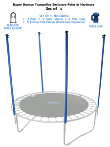 Upper Bounce Trampoline Enclosure Poles & Hardware Set Of 4- Ubhwd-Ps4