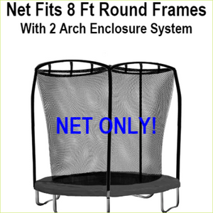 Net Fits 10 Ft. Round Frames With 2 Arch Enclosure Systems-UBNET-10-2AP