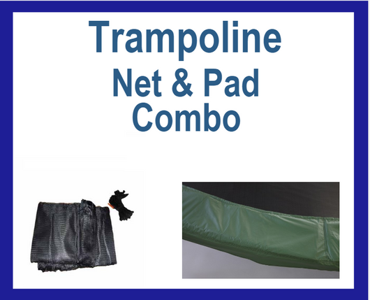 Net And Pad Combo For 14Ft Frames with 6 Pole Top Ring Enclosure-YJNYJP-TR-14-6-G