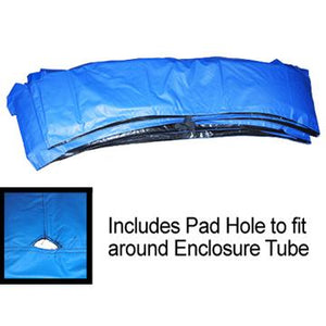 JumpPOD 12FT Combo Frame Pad 10in Wide Blue - Trampoline