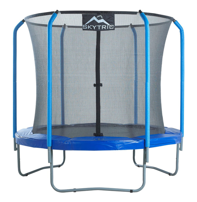 Upper Bounce Skytric 8 Ft Trampoline & Enclosure Set