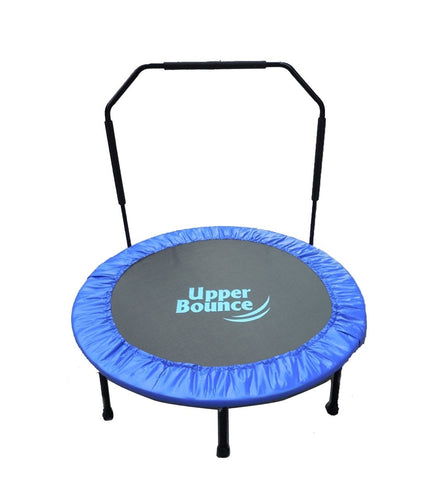 48 Mini Indoor/Outdoor Foldable Trampoline With Adjustable Handrail - Trampoline