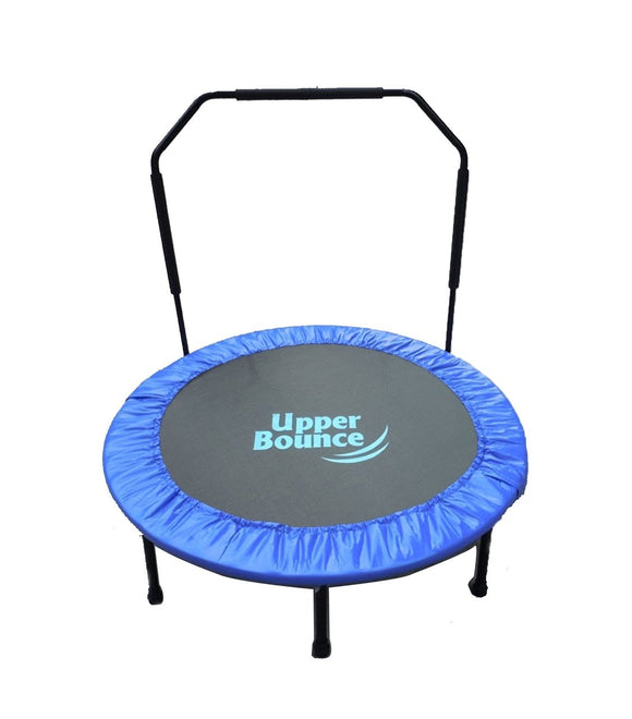 40 Mini Foldable Fitness Trampoline With Adjustable Handrail
