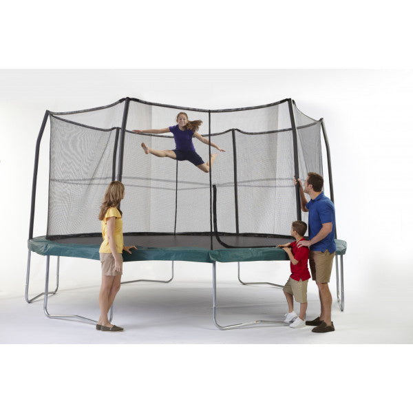 15FT JumpPod Trampoline with 6 pole enclosure system -  In Stock Now
