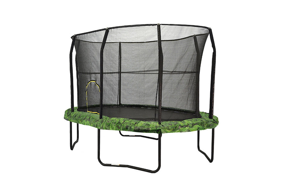 8' ft x 12' ft JumpKing Oval Trampoline With Fern Graphic Pad