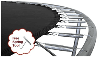 Jumping Surface for 14' ft. Trampolines with 96 7in Springs - Free Spring Tool - Trampoline