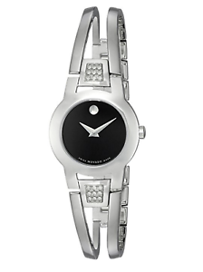 Movado AMOROSA Diamond Stainless Steel Bangle Watch - IDoGood