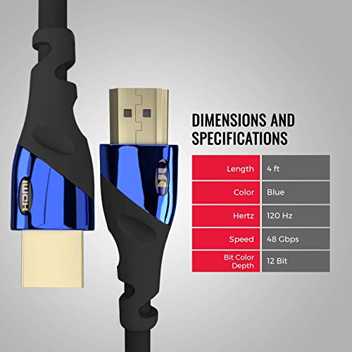 Monster Ultra High-Speed 8K Cobalt HDMI 2.1 Cable