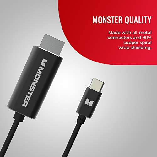 Monster Classic 5.9ft / 1.8m USB C to HDMI Cable (