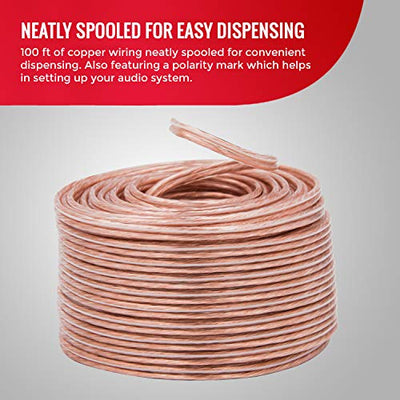 Monster Speaker Wire Copper Cable Spool, 16 AWG, 5