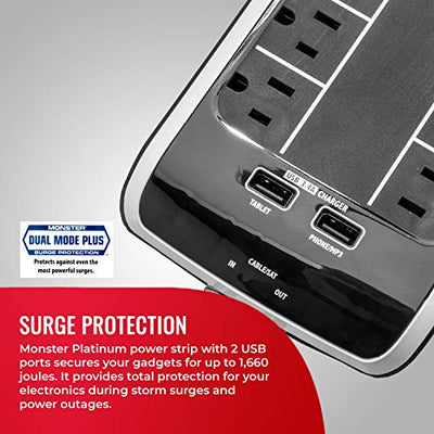 Monster Power Surge Protector 6-Outlet Power Strip