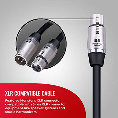 Monster Classic Microphone Cables - Silver Contact
