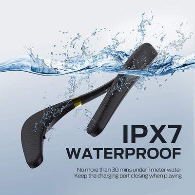 Monster Boomerang Neckband Bluetooth Speaker, Lightweight Wireless Wearable Speaker with 12H Playtime, True 3D Stereo Sound, Portable and IPX7 Waterproof, Ideal for Home&Outdoors