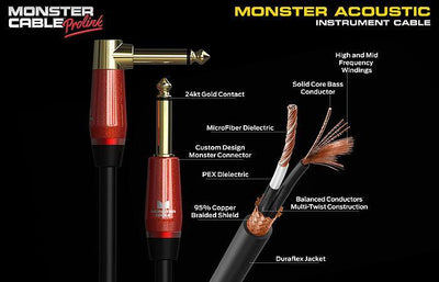 Prolink® Monster Acoustic® Pro Audio Angled Instrument Cable
