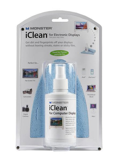 Screen Cleaner & MicroFiber Cloth for smart phone, laptop, etc. - Monster iClean
