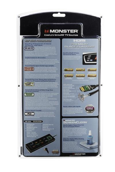 Monster Black Platinum HDMI Cable Power ScreenClean