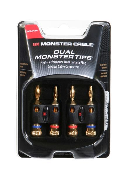 Monster Dual Banana Speaker Cable Adapters MKII