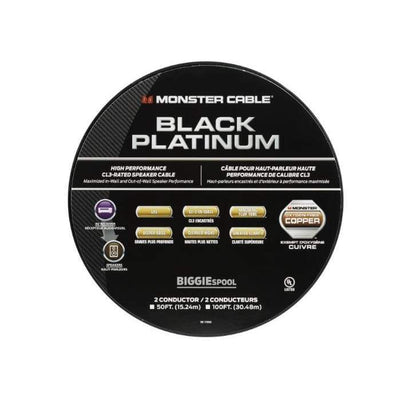 Black Platinum Cl Rated Monster Xp Clear Jacket Speaker Cable - Cables