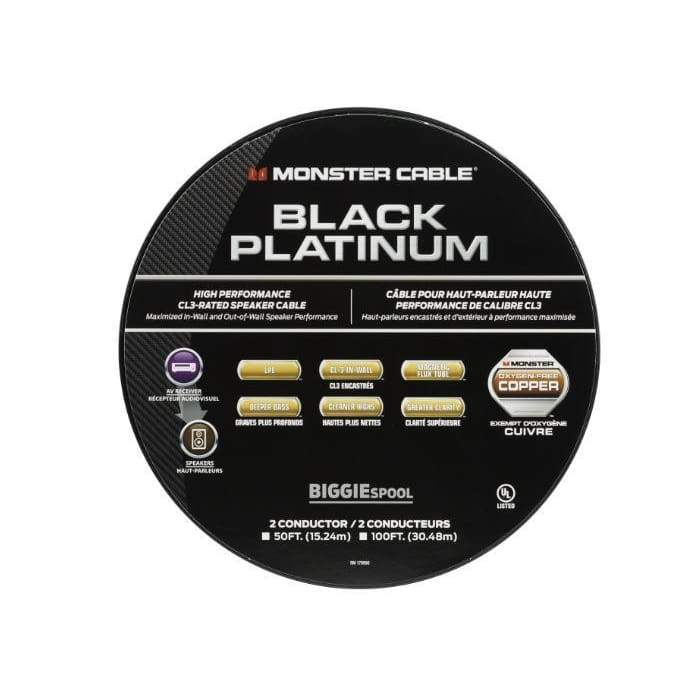 black platinum clear jacket speaker cable cl rated monster xp home theater equipment black platinum cl rated monster xp clear jacket speaker cable cables