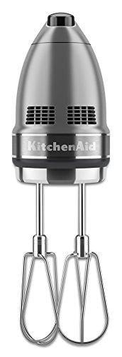 Kitchenaid Khm7210Cu 7-Speed Digital Hand Mixer With Turbo Beater Ii Accessories And Pro Whisk - Contour Silver - Appliance