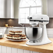 Kitchenaid Ksm75Wh Classic Plus Series 4.5-Quart Tilt-Head Stand Mixer White - Appliance